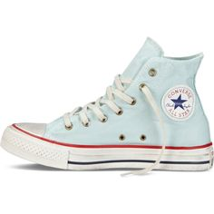 Converse Chuck Taylor Washed Canvas – foam Sneakers ($45) ❤ liked on Polyvore