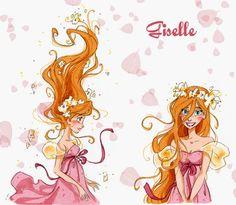 Giselle by David Gilson. Aw, I love Giselle :) Disney Pixar, Walt Disney, Disney Films, Disney And Dreamworks, Disney Animation, Disney Magic, Disney Characters, Disney Princess Art, Disney Fan Art