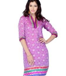 Buy Designer party wear kurti made from jacquard party-wear-kurti online