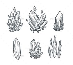 Buy Vector Crystals by abirvalg on GraphicRiver. Set of hand drawn vector crystals. Sketchy minerals isolated on white. Gem Drawing, Diamond Drawing, Diamond Sketch, Magic Drawing, Drawing Tips, Drawing Ideas, Kunst Tattoos, Tattoo Drawings, Art Drawings