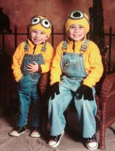 My crochet Minion Hats shown on two boys dressed up for halloween :) Cute!