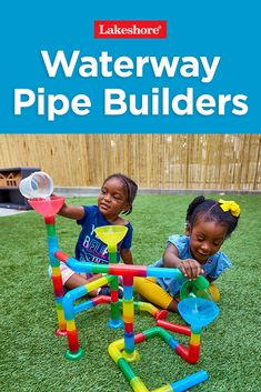 Add twists and turns to ordinary water play—with our Waterway Pipe Builders! Visit our bio link for more info. Play Therapy Activities, Date Activities, Activities For 1 Year Olds, Science Projects For Kids, Toddler Learning Activities, Indoor Activities For Kids, Infant Activities, Outdoor Activities, Kid Games Indoor