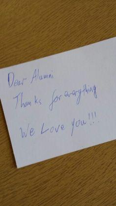 Alumni. We love you... #4714UoB