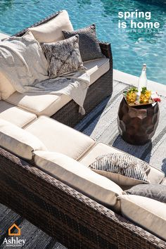 Outdoor Furniture Plans, Outdoor Sofa, Outdoor Patios, Outdoor Spaces, Outdoor Ideas, Patio Ideas, Backyard Ideas, Outdoor Decor, Gazebo On Deck
