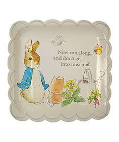 Look at this #zulilyfind! Peter Rabbit 'Don't Get Into Mischief' Plate - Set of 24 #zulilyfinds