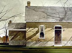 "Joseph Alleman / 2005 / In The Shadows / Watercolour / 17"" x 23"""