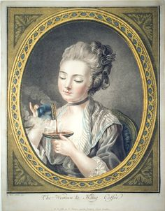 Louis-Marin Bonnet (1736-1793), The Woman Taking Coffee, 1774