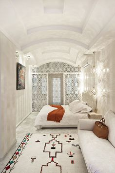 25 Coziest and Catchiest Moroccan Bedroom Decorating Inspirations moroccan decor living room Modern Moroccan Decor, Moroccan Home Decor, Moroccan Interiors, Moroccan Design, Moroccan Style Bedroom, Moroccan Lanterns, Moroccan Tiles, Morrocan Bathroom, Morrocan House
