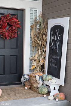 Rustic Fall Porch | Farmhouse charm