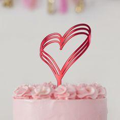 Pack 2 corazones de color rosa de boda Die Cut TOPPERS PARA TARJETAS O MANUALIDADES