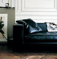 Sofá tapizado de cuero SIMPLEX | Sofá de cuero - Maxalto, a brand of B&B Italia Spa