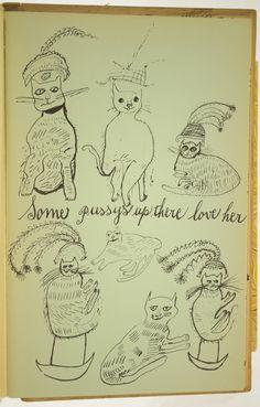 Drawing by Julia Warhola, Andy Warhol's mum. EYE-LIKEY