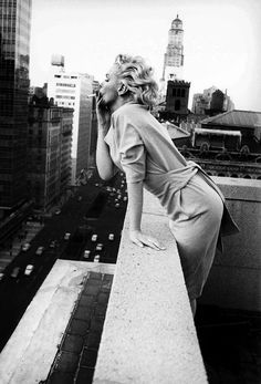 Marilyn, NYC, March '55. You may recognize this as the shot that was famously photoshopped with James Dean in the foreground ;)