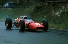 1966 Belgian GP, Spa : John Surtees, Ferrari 312 #6, Scuderia Ferrari, Winner.  (ph: formula1.com)