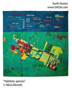 Art quilt by Alicia Merrett #artquilts #SAQA
