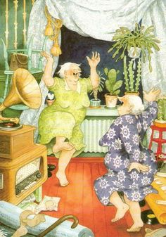 Inge Onion and its merry old woman. Comments: LiveInternet - Russian Service Online Diaries