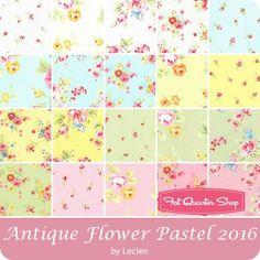 Antique Flower Pastel 2016 Origami Squares<BR>Lecien Fabric