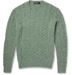 Loro Piana Cable-Knit Baby Cashmere and Silk-Blend Sweater | MR PORTER