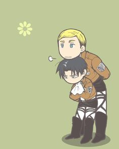 Attack on Titan (Shingeki no Kyojin) - Erwin Smith x Levi Ackerman - Eruri