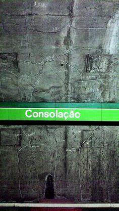 Rachaduras no metrô.
