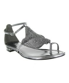 chain mail....Take a look at this Pewter Armor Sandal by MIA Shoes on #zulily today!
