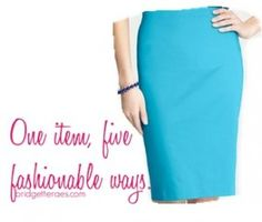 Pencil Skirt Outfits I have this skirt in Victoria's Secret hot pink, and bright emerald green. alter the outfits a little and i have some cool outfits to look forward to wearing!