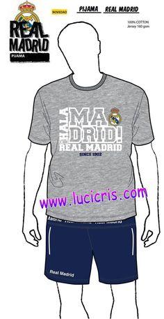 Pijama ADULTO REAL MADRID Oficial Gris 1902 c29ca0e1c18