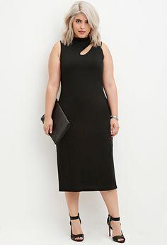 Cutout Midi Dress - Dresses - 2000145843 - Forever 21 EU English