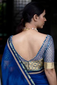 Buy Designer Blouses online, Custom Design Blouses, Ready Made Blouses, Saree Blouse patterns at our online shop House of Blouse from India. Blouse Back Neck Designs, Stylish Blouse Design, Fancy Blouse Designs, Sari Blouse Designs, Saree Blouse Patterns, Designer Blouse Patterns, Skirt Patterns, Coat Patterns, Sari Design