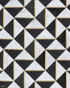 Dominion Quick-Ship collection tile in Calacatta Oro and Nero Marquina marbles with gold glass accents in Ludlow by Mosaïque Surface Informations About 8 Modular Flooring Designs Pin You can easily us Floor Design, Tile Design, Pattern Design, Floor Patterns, Tile Patterns, Black Tiles, Black Marble, Damier, Tiles Texture