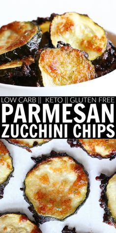 Move over kale chips!! These Parmesan Jalapeño Zucchini Chips are perfectly cheesy, salty, and spicy!! I love snacking on these easy, low carb, keto, and gluten free chips! thetoastedpinenut.com #thetoastedpinenut #lowcarb #keto #glutenfree #zucchini #parmesan #chips #snack #healthy