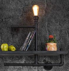 Aliexpress.com: Koop amerikaanse dorp loft vintage wandlamp waterleiding industriële lamp edison wandkandelaar met persoonlijkheid koffie bar verlichting van betrouwbare lamp zekering leveranciers op JIAYOU LED LIGHTING