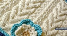 Knitting Cable Lace Stitch: Diagram + step by step instructions