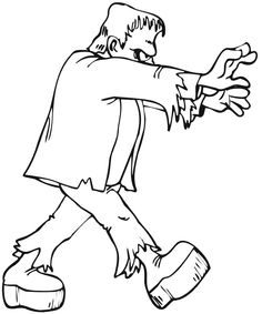 1000 images about kid pages for wall art on pinterest for Frankenstein coloring book pages