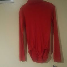 Red turtleneck zip up back leotard Red leotard woth zip up back long sleeves. Great for dance or under clothing. capezio Other