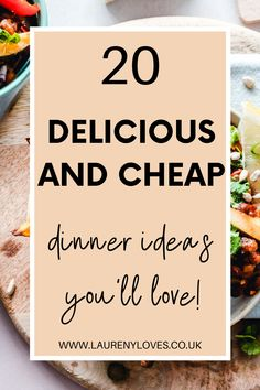 20 quick and easy dinner ideas that the whole family will love. Healthy dinner ideas that you must try tonight. Click to discover 20 family dinner ideas that are delicious and cheap. Cheap Easy Meals, Cheap Dinners, Easy Recipes, Healthy Recipes, Cooking For One, Food To Make, Dinner Ideas, Good Food, Simple