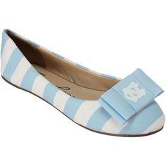 best service d111d 03ea9 North Carolina Tar Heels (UNC) Women s Flats with Removable Bows