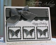 Black and white Birthday card. Beautiful!!