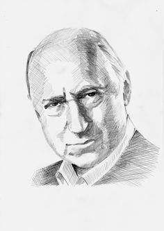 Rysunek ołówkiem na papierze, Piotr Fronczewski