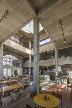 """Arcosanti - a concept town in Arizona demonstrating Paolo Soleri's """"Arcology"""", architecture + ecology Interior Exterior, Interior Architecture, Interior Design, Ribbed Vault, Arizona, Arcology, Community Space, Study Design, Built Environment"""