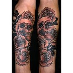 Skull And Roses Tattoos Designs Ideas picture 7778