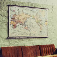 The World  Pull Down Wall Chart by WeAreErstwhile on Etsy