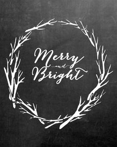 These simple Christmas Chalkboard Printables come complete with anantler wreath and some of your favorite Christmas words!