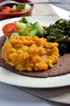 Ethiopian Yellow Split Pea & Butternut Stew #coconutandberries