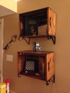 """Crate Shelves from """"Unusual Shelving"""""""