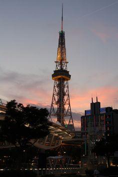 Nagoya Tower at dusk, Japan © Konchan 名古屋テレビ塔