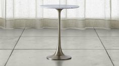 nero white marble accent table | c&b
