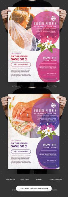 Wedding Planner Flyer Template PSD