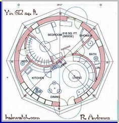 round house plans interesting round home designs The Plan, How To Plan, Round House Plans, House Floor Plans, Building Plans, Building A House, Yurt Home, Earthship Home, Natural Homes