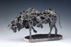 """""""Tired of Provincial Bull"""" by Eamonn Higgins. Steel Sculpture."""
